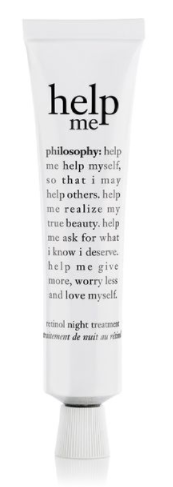 philosophy help me retinol night treatment
