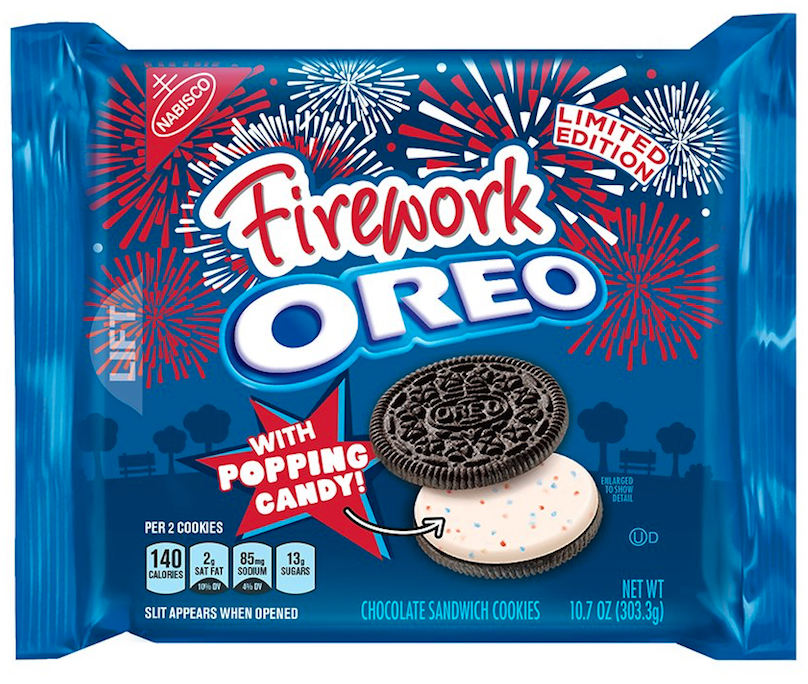 Firework Oreo Cookie Sandwich