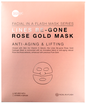 Skin Inc LINES BE-GONE ROSE GOLD MASK for anti-aging and lifting