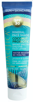 Pacifica Suncare Coconut Probiotic Mineral Face Shade SPF 30