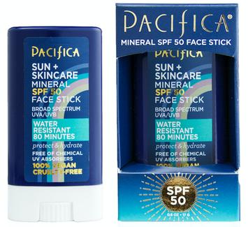 Pacifica Suncare Coconut Probiotic Mineral Sunscreen Face Stick SPF 50