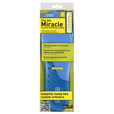 PROFOOT 2oz. Miracle Insoles, Men's