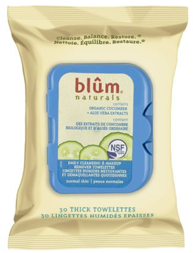 Blum Naturals Daily Normal Skin Cleansing and Makeup Remover Towelettes