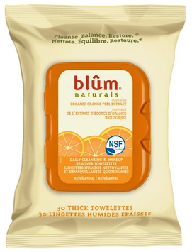 Blum Naturals Daily Exfoliating Cleansing & Make up Remover Towelettes
