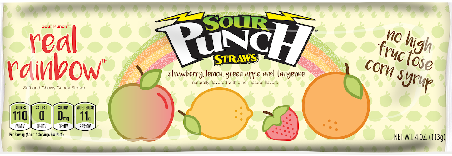 Sour Punch® Real Rainbow Straws