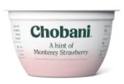 Chobani® A Hint of Monterey Strawberry Yogurt