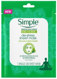 Simple® De-Stress Sheet Mask