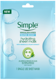 Simple® Skincare Water Boost Hydrating Sheet Mask