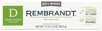 Rembrandt® Deeply White® + Peroxide Whitening Toothpaste