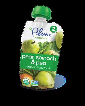 Plum Organics Second Blends Pear, Spinach & Pea
