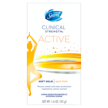 Secret® Clinical Strength Active Sport Fresh Soft Solid Deodorant