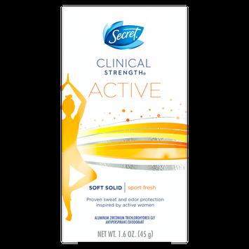 Secret® Clinical Strength Active Sport Fresh Soft Solid Deodorant