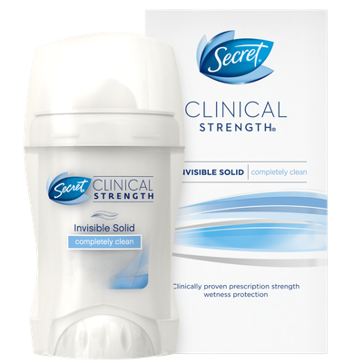 Secret® Clinical Strength Completely Clean Invisible Solid Deodorant