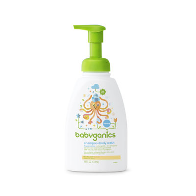 Babyganics Shampoo + Body Wash, Fragrance Free