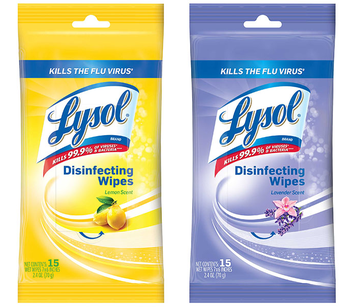 Lysol Disinfecting Wipes- 15 Count