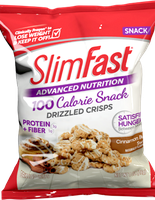 SlimFast Advanced Nutrition Cinnamon Bun Swirl Drizzled Crisps