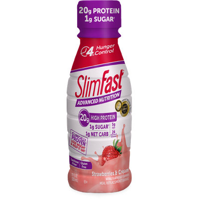 SlimFast Advanced Nutrition High Protein Strawberries & Cream Shakes
