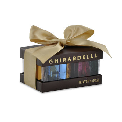 Ghirardelli Small Brown Box of Chocolates with Bow