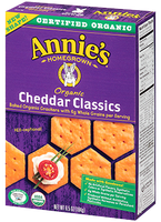 Annie's® Homegrown Organic Cheddar Classics Crackers