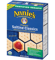 Annie's® Homegrown Organic Saltine Classics Crackers