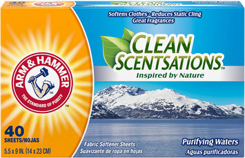 ARM & HAMMER™ Clean Scentsations™ Fabric Softener Sheets Purifying Waters