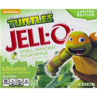 JELL-O Teenage Mutant Ninja Turtles Shell-Shockin' Sour Apple Gelatin Dessert
