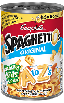 Campbell's SpaghettiOs Original A to Z's Shaped Pasta in Tomato and Cheese Sauce