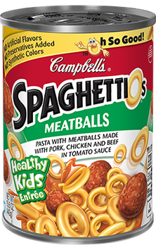 Campbell's SpaghettiOs Meatballs Pasta with Pork Chicken and Beef in Tomato Sauce