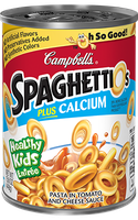Campbell's SpaghettiOs Plus Calcium Pasta in Tomato and Cheese Sauce