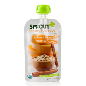 Sprout Organic Butternut Squash Maple & Oatmeal Organic Baby Food