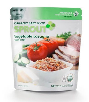 Sprout Vegetable Lasagna with Beef Organic Baby Food