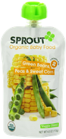 Sprout Green Beans, Peas & Sweet Corn Organic Baby Food