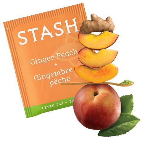 Stash Tea Ginger Peach Green Tea