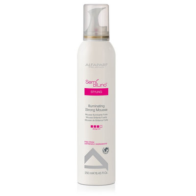 Alfaparf Semi Di Lino Styling Illuminating Strong Mousse 8.45 oz