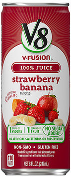 V8® V-Fusion 100% Strawberry Banana Vegetable & Fruit Juice