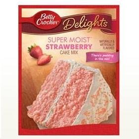 Betty Crocker™ Super Moist™ Delights Strawberry Cake Mix