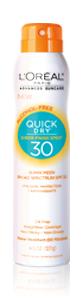 L'Oréal Paris Advanced Suncare Quick Dry Sheer Finish Spray 30