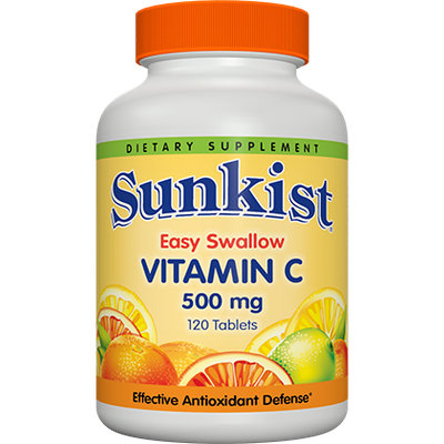 Sunkist Vitamin C 500mg Easy Swallow Tablets