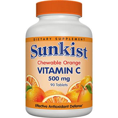 Sunkist Chewable Orange Vitamin C 500mg Tablets
