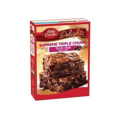Betty Crocker™ Supreme Triple Chunk Brownie Mix