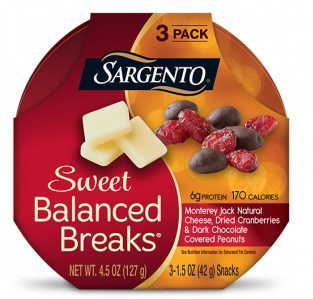 Sargento® Sweet Balanced Breaks® Monterey Jack Natural Cheese with Dried Cranberries and Dark Chocolate Covered Peanuts
