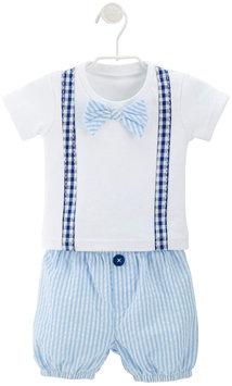 Baby Aspen Bowtie T-Shirt and Seersucker Shorts Set - Little Man - Blue - 1 ct.