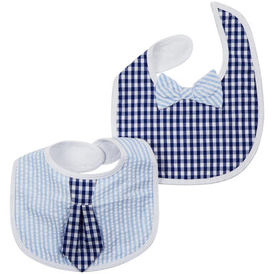 Baby Aspen 2-pk. Little Man Tie Bib Set - Baby Boy (Blue)