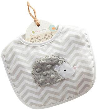 Baby Aspen Chevron Hedgehugs Bib - Baby Girl (Grey)