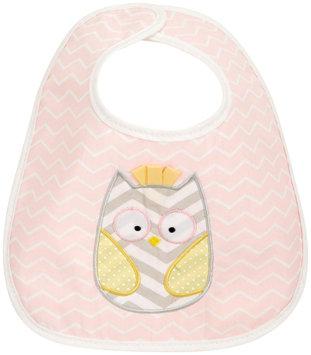 Baby Aspen Chevron Owl Bib - Baby Girl (Pink)