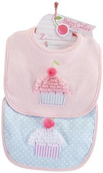 Baby Aspen 2-pk. Baby Cakes Cupcake Bib Set - Baby Girl (Pink)