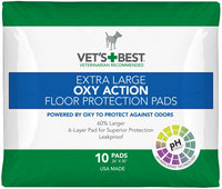 Vet's Best OXY ACTION Extra Large Floor Protection Pads