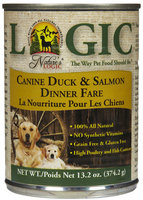 Nature's Logic Canned Dog Food Duck & Salmon 13.2 oz