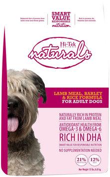 Hi-Tek Rations Naturals Adult Lamb Barley and Rice Dry Dog Food (15 lb. Bag) 21NLR15