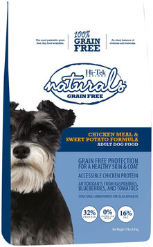 Hi-Tek Rations Naturals Adult Grain Free Chicken and Sweet Potato Dry Dog Food (15 lb. Bag) 32NGF15